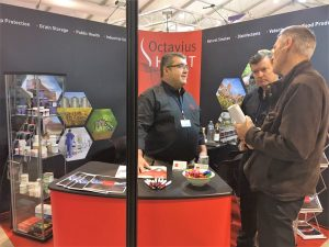 Octavius Hunt exhibiting at PestEx