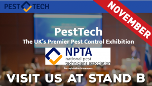 Octavius Hunt exhibiting at PestTech UK 2017. Visit us at stand B
