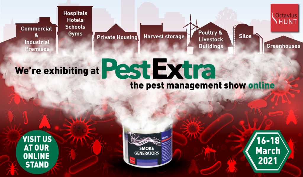 Octavius Hunt is exhibiting at PestExtra 2021